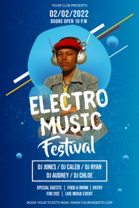 Blue Electro Music Festival Poster
