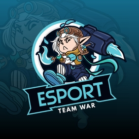 Blue Esports Team Logo