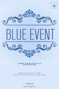 Blue Event FLyer TEmplate