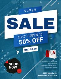 Blue Fashion Sale Creative Flyer
