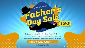 Blue Father's Day Sale In Store Display