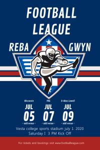 Blue Football League Poster