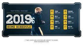 Blue Football Schedule Digital Display Video