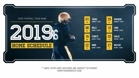 Blue Football Schedule Digital Display Video