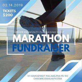 Blue Fundraiser Marathon Event Banner