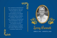 Blue Funeral Card Poster Template Plakkaat