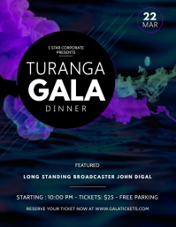 Blue Gala Dinner Party Flyer