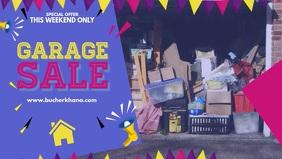 Blue Garage Sale Display Banner