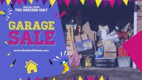 Blue Garage Sale Display Banner