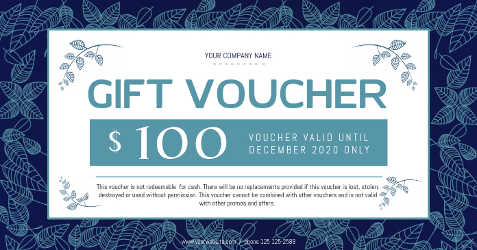 Blue Gift Voucher