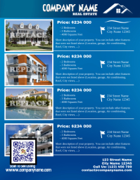 Blue glossy real estate flyer - Letter size (new version)