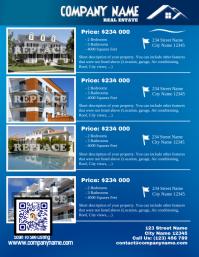 Blue glossy real estate flyer - Letter size (new version) 传单(美国信函) template