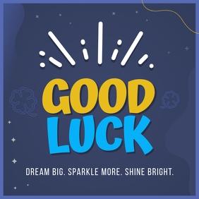Blue Good Luck Wish Instagram Image