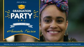Blue Grad Party Invitation Banner