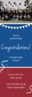 Blue Graduating Class Congratulations Banner Spanduk 2' × 6' template