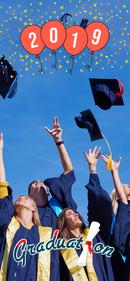 Blue Graduation Snapchat Filter