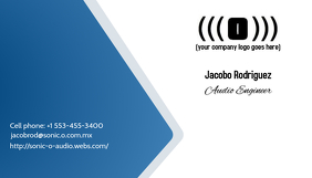 Blue Gray White Business card