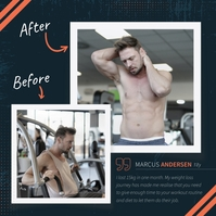 Blue Gym Before/After Instagram Image template