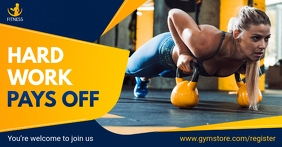 Blue Gym Opening Facebook Shop Cover