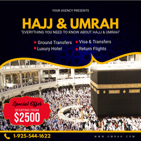 Blue Hajj and Umrah Travel Package Online Ad