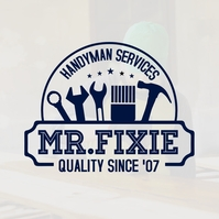 Blue Handyman Typography Logo Template