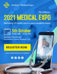 Blue Health Medical Trade Show Flyer Template Løbeseddel (US Letter)
