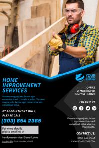 Blue Home Improvement Service Flyer Poster template