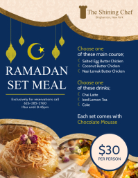 Blue Iftar Deals Menu Design Template