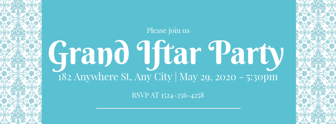 Blue Iftar Party Facebook Cover Template