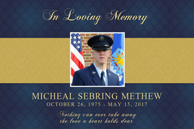 Blue In Loving Memory Template Poster