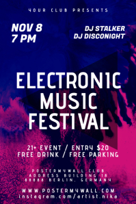 Blue Inc Electronic Music Festival Poster