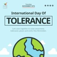 Blue International Day of Tolerance Instagram Instagram-Beitrag template