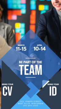 Blue Job Vacancy Instagram Story Ad