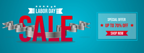 Blue Labor Day Sale Facebook Cover Photo