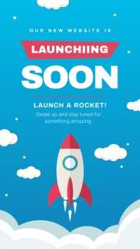 Blue Launching Soon Instagram Story template
