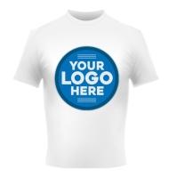 Blue logo t-shirt sale design template Publicação no Instagram