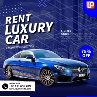 Blue Luxury Car Square (1:1) template
