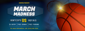 Blue March Madness Basketball Facebook Cover template