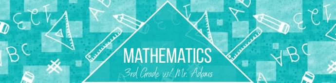 Blue Mathematics Google Classroom Banner template