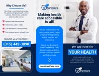 Blue Medical Trifold Brochure Pamflet (Letter AS) template