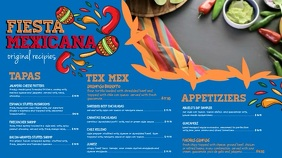 Blue Mexican Menu Video Template