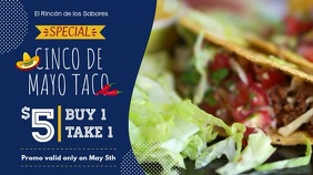 Blue Modern Mexican Cuisine Display Ad