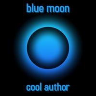 Blue moon album cover template