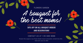 Blue Mother's Day Bouquet Gift Certificate