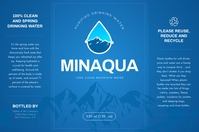 Blue Mountain Water Bottle Label Etykieta template