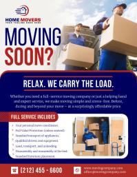 Blue Moving Company Flyer 传单(美国信函) template