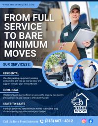 Blue Moving Services Flyer Folder (US Letter) template