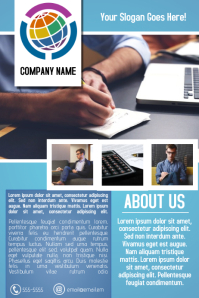 blue multipurpose business company flyer template