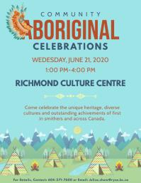 Blue National Aboriginal Day Event Flyer