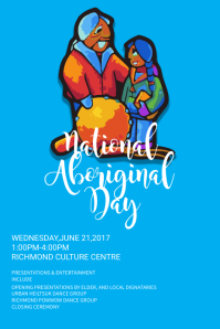 Blue National Aboriginal Day Poster Template